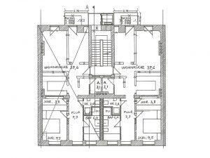 Bestandsplan von beiden Wohnungen