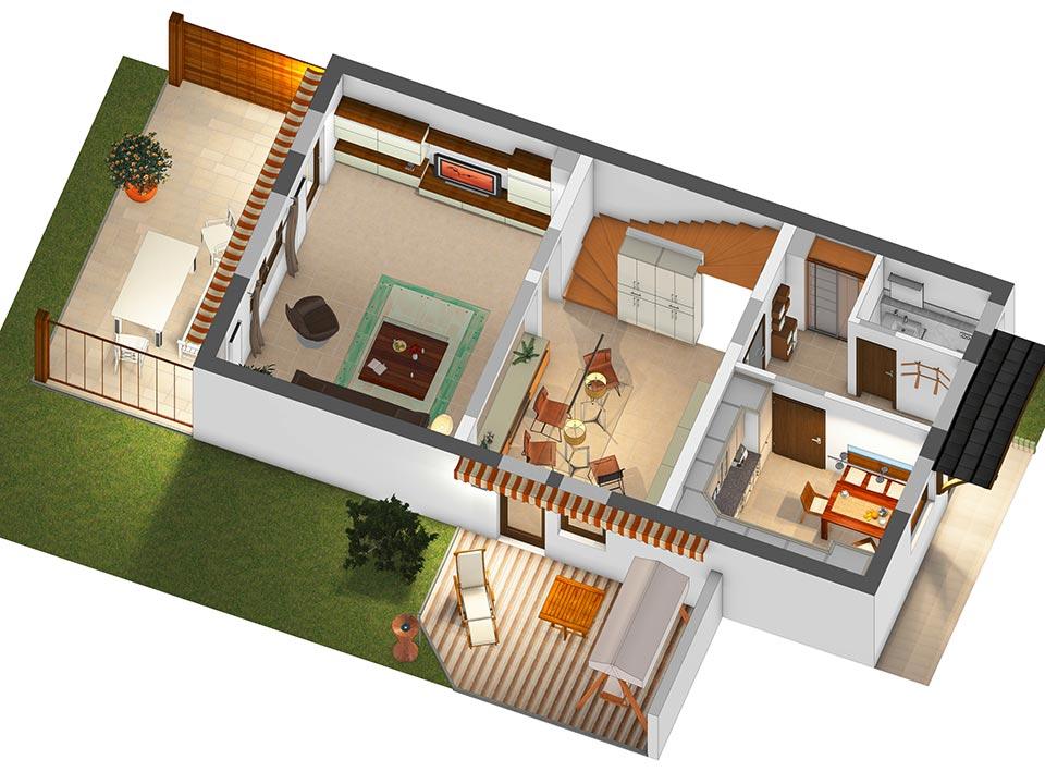 3D-Plan Erdgeschoss