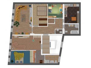 3D-Plan für die beiden neuen Wohnungen