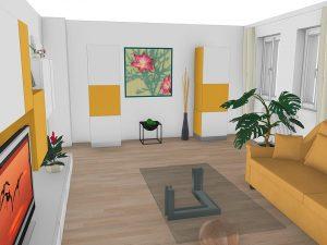 3D-Plan vom Wohnzimmer