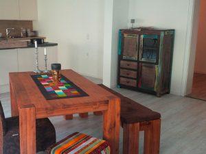 Der fertiggestellte Küchen/Wohnraum