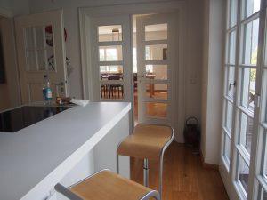 Neue Küche mit Blick ins Esszimmer