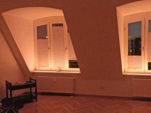 Stimmungsbeleuchtung im Wohnzimmer