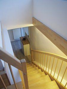 Die neue Treppe ins Dachgeschoss