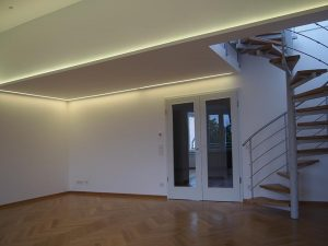 LED-Beleuchtung im Wohnzimmer